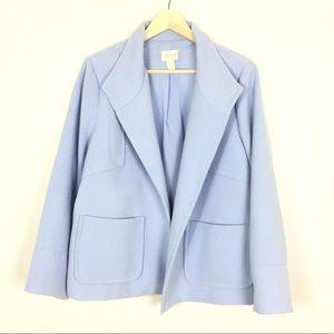 Chico's super soft powder blue blazer jacket 2/L